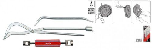 Bremsen Einstell Montage Haken Hebel Drücker Werkzeug Bremsfederzange 3 tlg