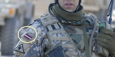 Sammeln & Seltenes Militär Alliance Mit Lettland Afghanen Lettische 1.kājnieku Bataljons Flagge Durchsichtig In Sicht Buttons