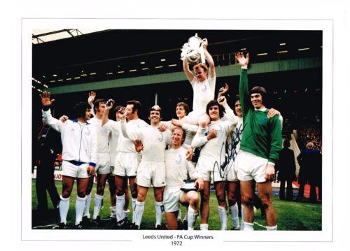 SALE NORMAN HUNTER SIGNED 16x12 PHOTO AUTOGRAPH COA LEEDS UNITED UTD 1972 FA CUP