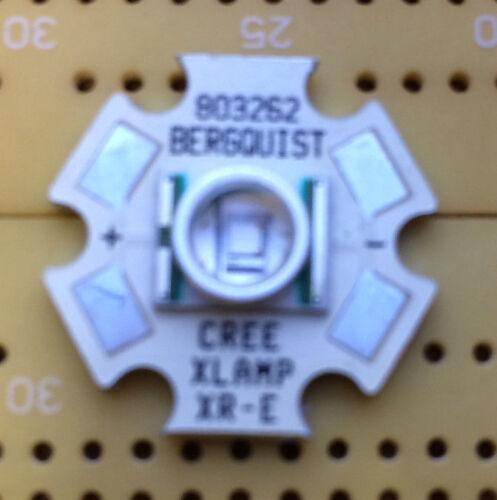 Cree XR-E Blue 480nm LED Emitter /& Star Mounted High Power 4W Police Emergency