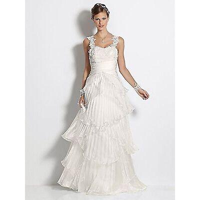 Heine Brautkleid Spitze Hochzeitskleid creme Gr. 38 Kleid Abendkleid Ballkleid