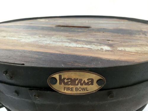 Kadai Fire Bowl Recycled Wooden Table Tops By Karma Canvas