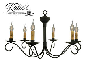 Details About Washington Chandelier Katie S Handcrafted Lighting Primitive Colonial New