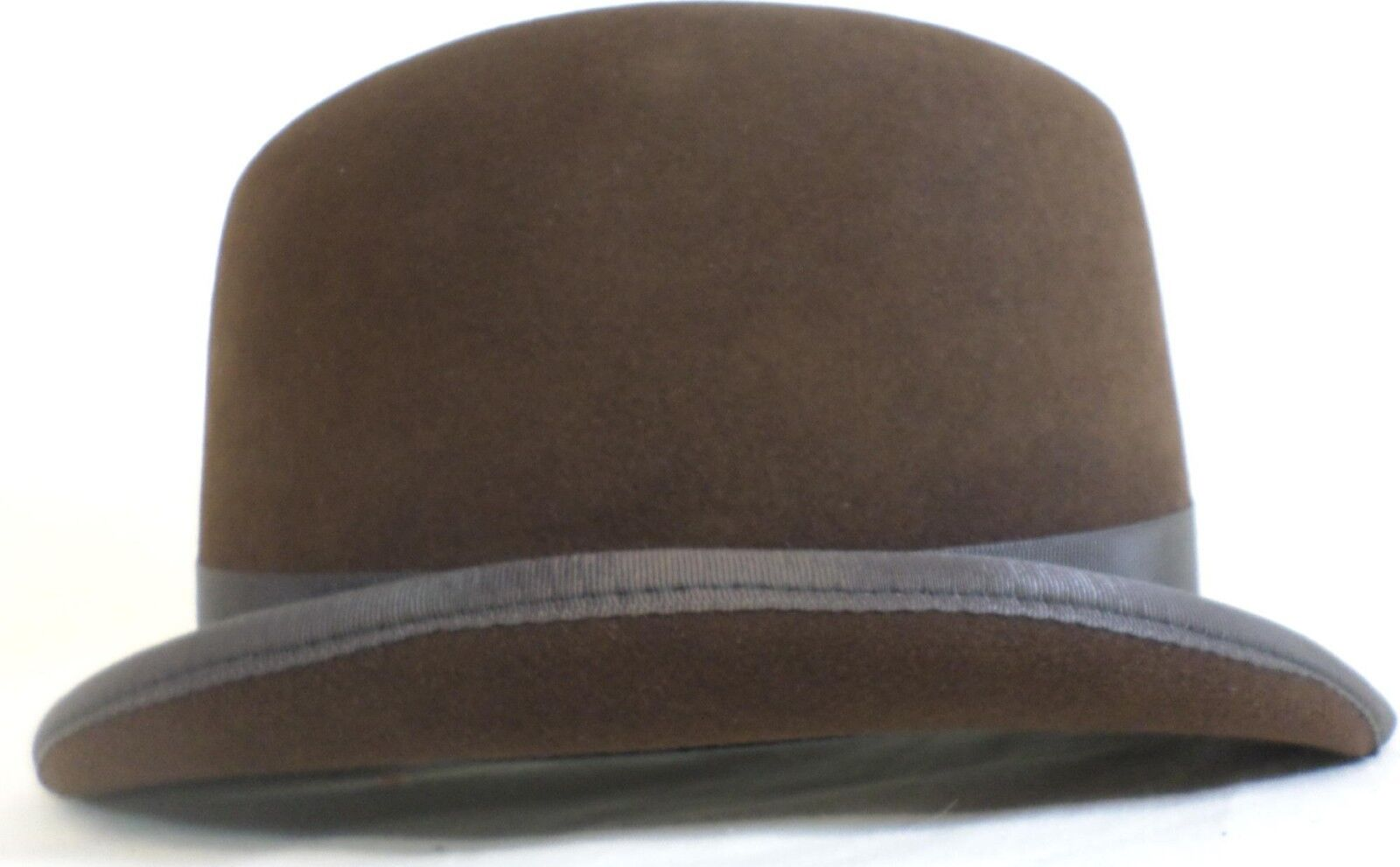 Reed Hill Saddleseat Homburg Hat bruin Fur Felt 61 2 --Made In USA