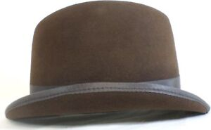 a21200b6916 Reed Hill Saddleseat Homburg Hat Brown Fur Felt 61 2 - Made In USA ...
