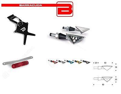Barracuda Portatarga + Frecce Z-led + Catadiottro Per Kawasaki Er-6n 2005 - 2008 Rafforza Tendini E Ossa
