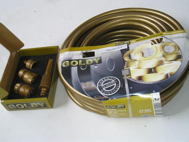 Gartenschlauch Halter in Gold Armatur
