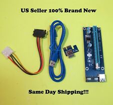 Fosa PCI-E to 4 Port PCI-E Extension Card PCI Express Riser Adapter USB3.0 for Mining
