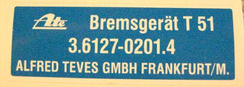 "BMW Label /""ATE brake boster /"" Sticker Decal Adhesive Aufkleber"
