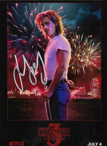 Dacre Montgomery signed Autographed photo w//COA RARE Stranger Things