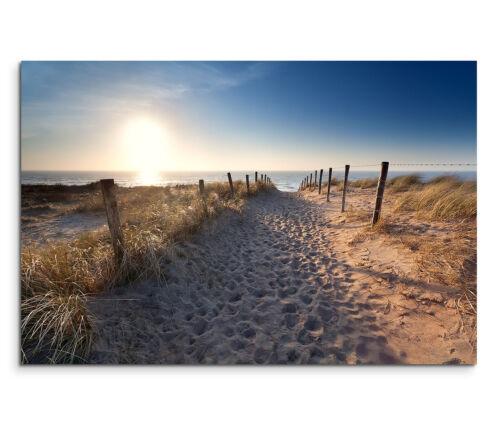 120x80cm Wandbild Holland Nordsee Strand Dünen Sonnenaufgang