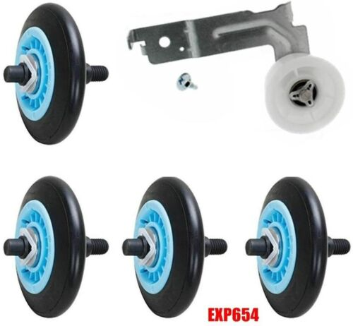 W10177428 Dryer Drum Rollers /& Idler Pulley Set PS11749648 PS2004052 EXP654