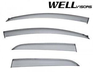 WellVisors For 18-Up Ford Ecosport BLACK TRIM Side Window Visors Rain Guards