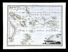 1812 Malte Brun Lapie Map - South Pacific Islands New Zealand Australia Oceania