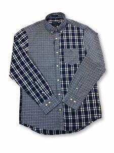 Gant-Windblown-Oxford-Panels-regular-cotton-shirt-Persian-blue-check