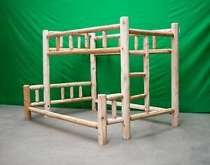 Premium Log Bunk Bed - Full Over Queen $749 - Free Shipping