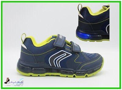 Dettagli su Geox Scarpe da Bambino con Luci Led Sneakers Bimbo Scarpa Ragazzo Junior Kommodo
