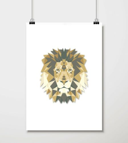 Baroque Poster Wall Art Low Poly Triangular Geometric Animal Print Collection