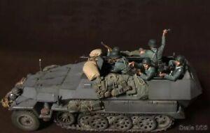 1-35-5pcs-Resin-Figure-Model-Kit-German-Soldiers-no-car-WWII-WW2-Unpainted