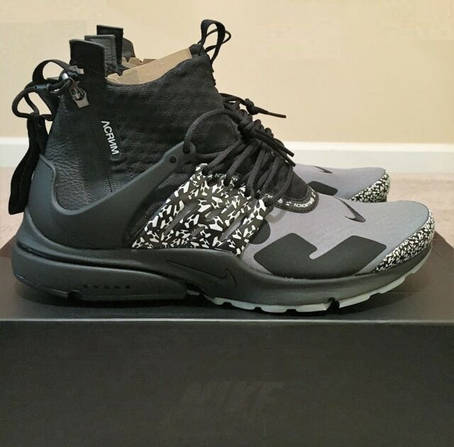 Acronym x Nike Air Presto Mid 4-13 Cool Grey Black White AH7832-001