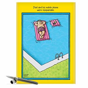J0354 jumbo funny fathers day card inseparable mobile phone image is loading j0354 jumbo funny father 039 s day card m4hsunfo