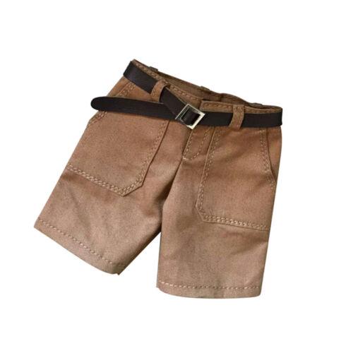Khaki Shorts Hosen Hosen 1//6 Skala 12 /'/' männliche Figur Kleidung Zubehör