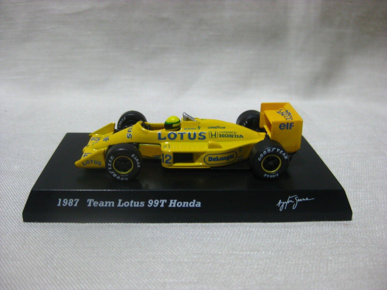 1 64 Kyosho Team Lotus 99T 1987 Honda tärningskast modelllllerlerl Bil