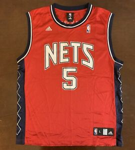huge selection of 31ac2 dd45a Details about Rare Vintage Adidas NBA New Jersey Nets Jason Kidd Red  Alternate Jersey