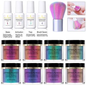 13PCS-BORN-PRETTY-Nail-Color-Dip-Dipping-Powder-Natural-Dry-Polish-Starter-Kit