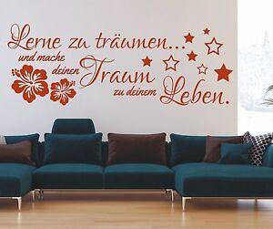 X945-Wandtattoo-Spruch-Lerne-zu-traeumen-Traum-Leben-Wandsticker-Wandaufkleber
