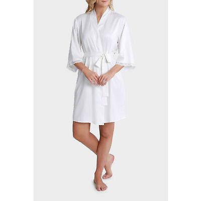 NEW Soho 'Satin Basics' Robe SSOW17011 Ivory