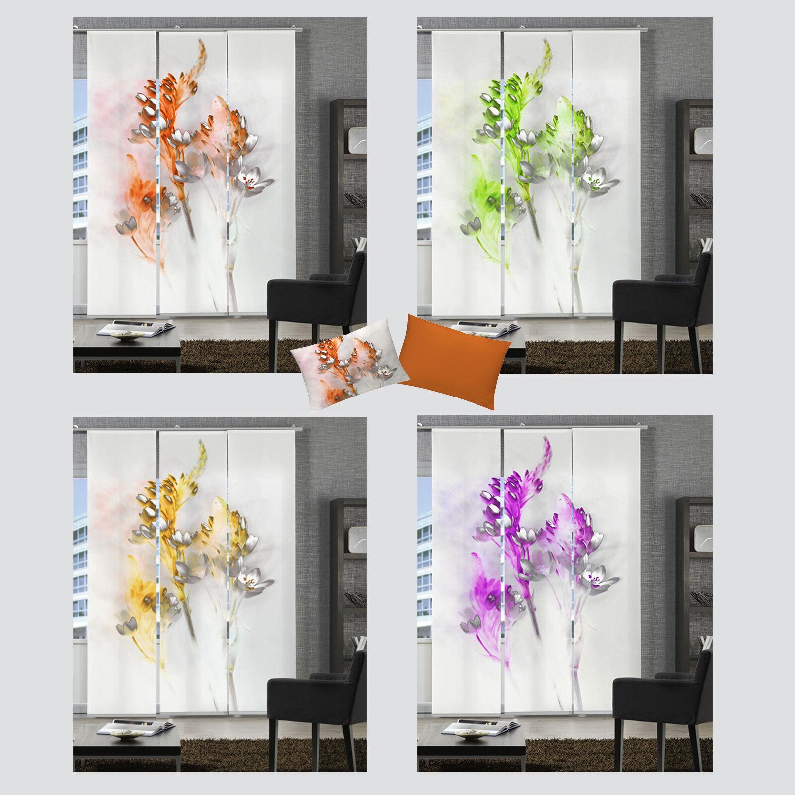 floralzauber blume aquarell schiebevorhang raumteiler. Black Bedroom Furniture Sets. Home Design Ideas