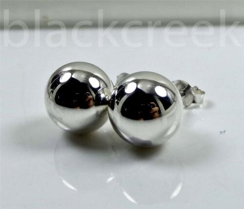 925 Sterling Silver ~10 mm Silver~ Ball ~ Solitaire~ Stud~ Post Earrings
