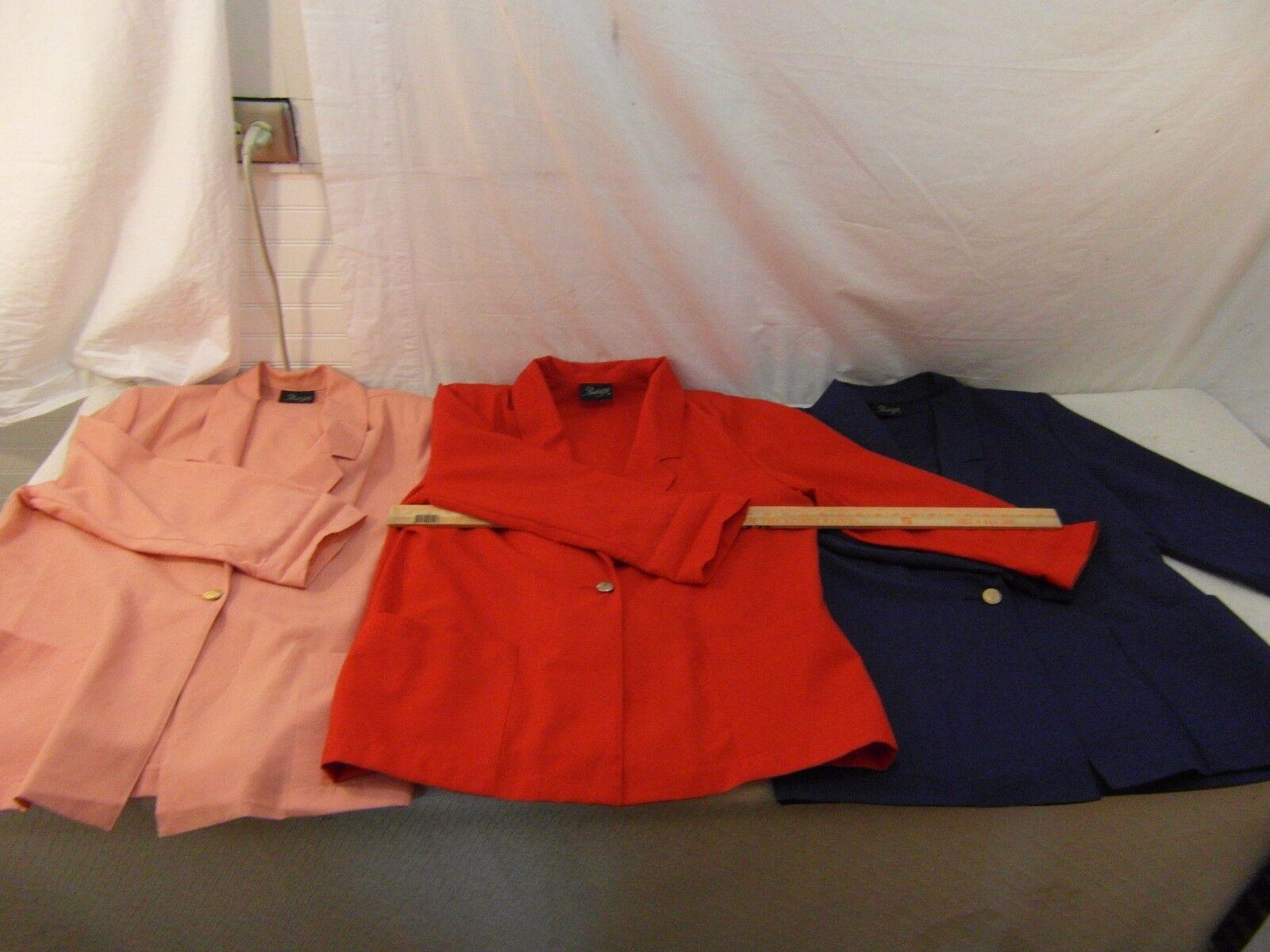(3) Women's Radcliffe bluee, Red, Peach One Button Dress Work Blazers