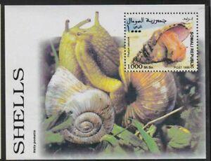 Somalia-MNH-1999-MS-Shells-Snails-Marine-Life