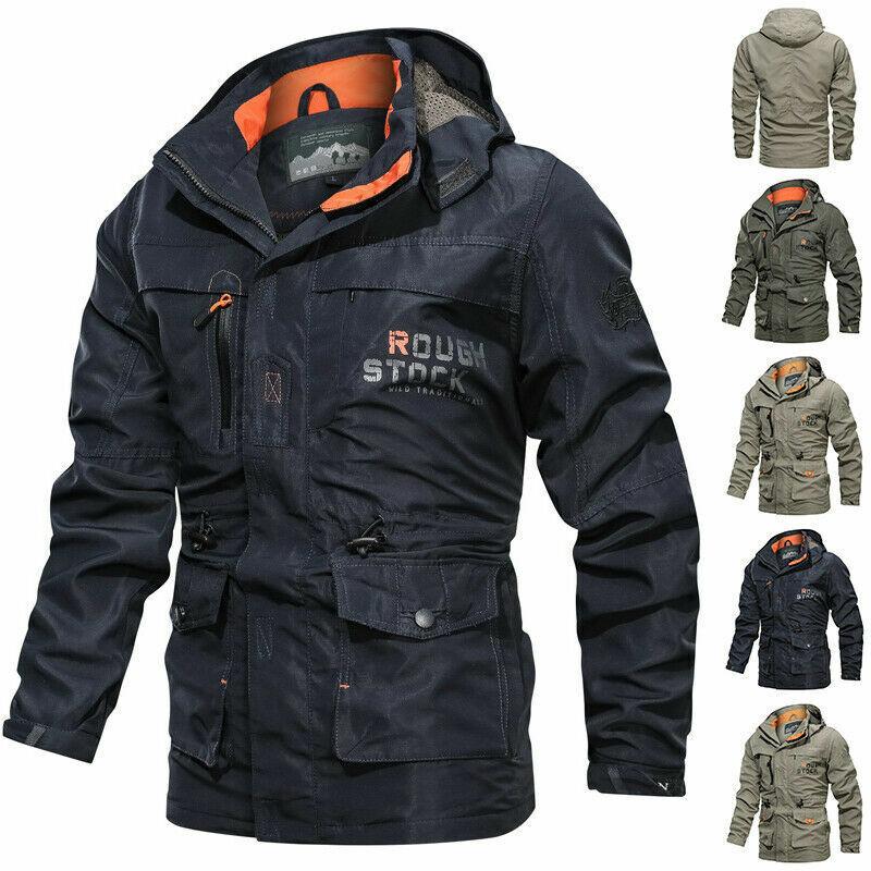 SZELT Mens Cotton Military Jackets Casual Outdoor Coat Windbreaker Jacket