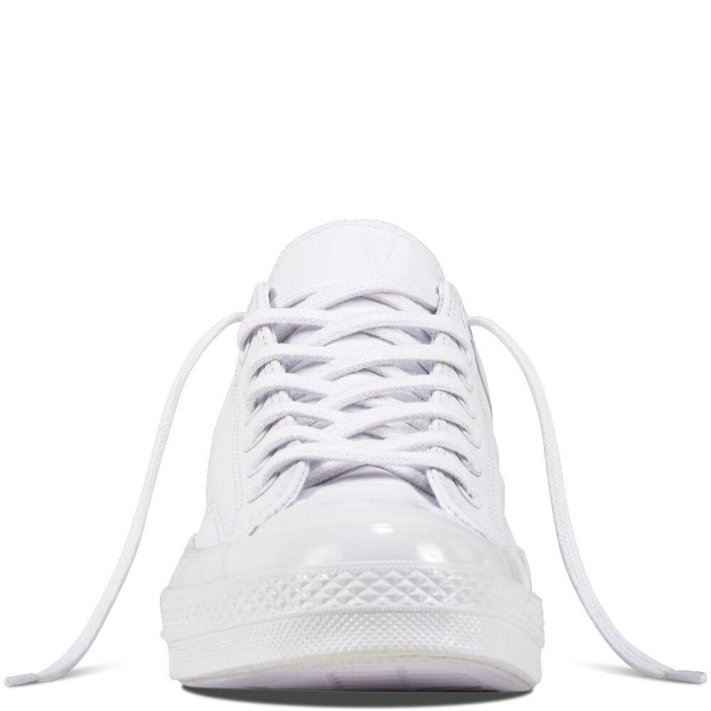 Converse anni 1970 Chuck Taylor Mono Mono Mono Bianco Pelle Scarpe da ginnastica 155455C Ctas 70 3bf35e