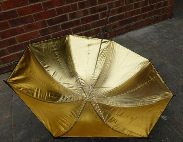 """DéVoué Proline 40""""/105cm Noir & Or Réflective Studio Flash Parapluie"""