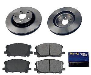 front ceramic brake pad set rotor kit for 2008 2014 toyota camry hybrid. Black Bedroom Furniture Sets. Home Design Ideas