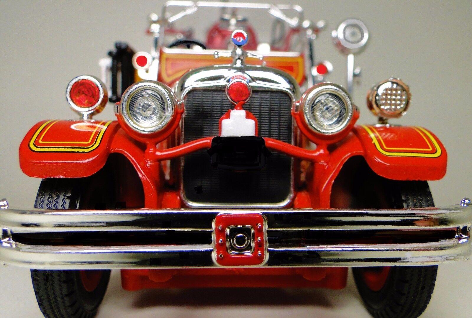 Ford 1920s Camión De Bomberos Antiguo Vintage un modelo de metal 1 T 24 Motor Pickup coche 18