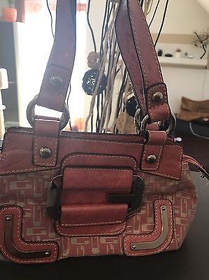 ♡ GUESS Handtasche Tasche Clutch Rose/Silber