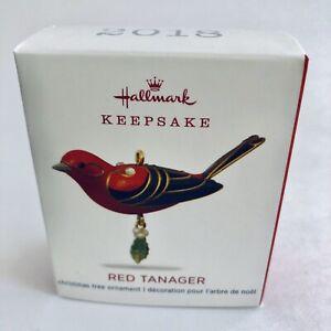 Hallmark-2018-Red-Tanger-Beauty-of-the-Birds-Miniature-Keepsake-Ornament-NEW