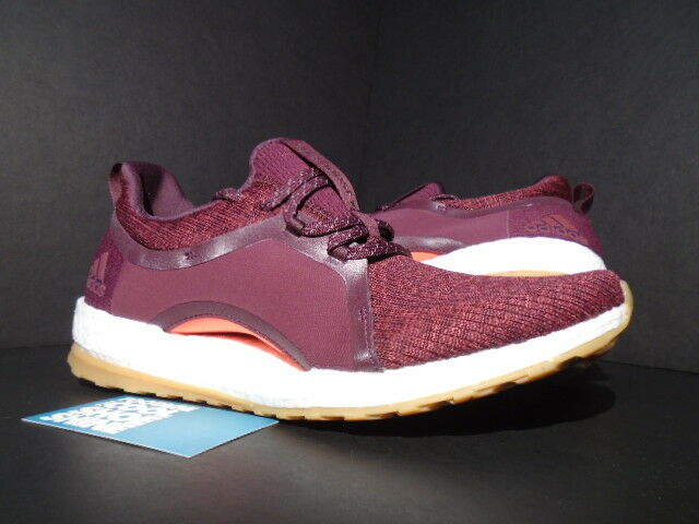 ADIDAS PURE BOOST X TOUT TERRAIN ROUGE NUIT RUBY CORAL ROSE BLANC BY2693 9.5