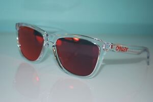 4b6ad098d7 Image is loading Oakley-Frogskins-Crystal-Collection-Sunglasses-OO9013-A5- Polished-