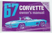 1967 Corvette Owner's Manual (new Licensed Reprint Of Original)