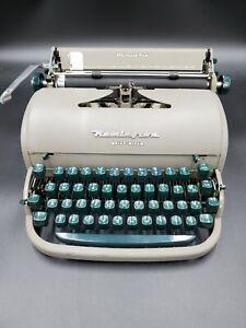 Vintage Gray Remington Quiet-Riter Miracle Tab Typewriter with Case & key