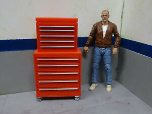 Tool-Box-Red-amp-Chrome-1-10-scale-Shop-Garage-Crawler-Doll-House-Accessories