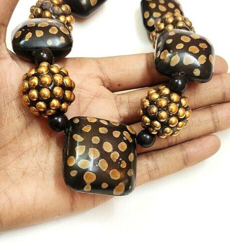 Banjara Tribal Halskette Hörner Tibetische Zigeuner Bauch Tänzer Perlen Ethnisch