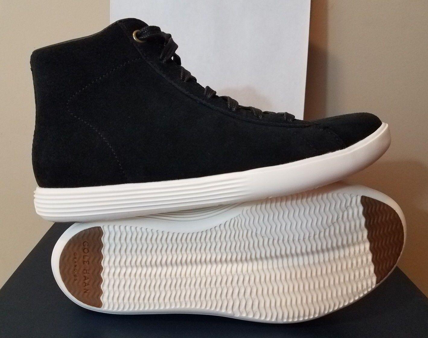 Para mujer mujer mujer Cole Haan Grand crosscourt High Top Zapatillas De Gamuza Negra Talla 11 Nuevo con etiquetas  online barato