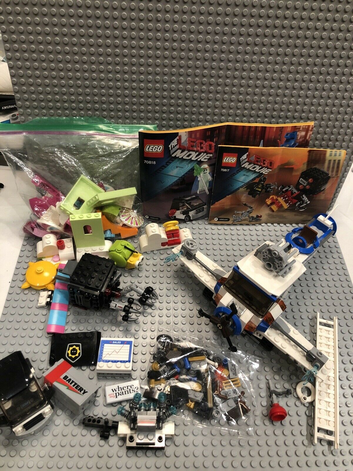 The Lego Movie Multiple Sets 70811 The Flying Flusher Incomplete 70817 70813 Lego
